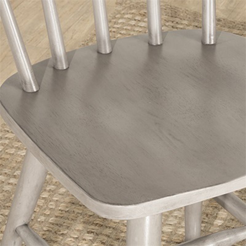 Hillsdale Mayson Windsor Dining Side Chair in Gray (Set of 2)