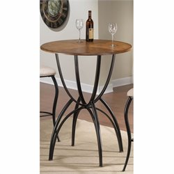 Hillsdale Pacifico Bar Height Bistro Table in Brown