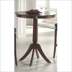 Hillsdale Plainview Bar Height Bistro Table in Brown Finish