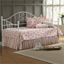 Hillsdale Lucy Girls Metal Daybed in White - Daybed only