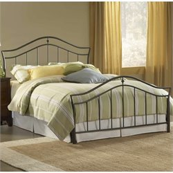 Hillsdale Imperial Metal Panel Bed in Black Finish - Full