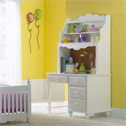 Hillsdale Lauren Wood Desk in White
