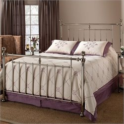 Hillsdale Holland Metal Panel Bed in Nickel Finish - Twin