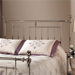 Hillsdale Holland Metal Headboard in Nickel - Twin