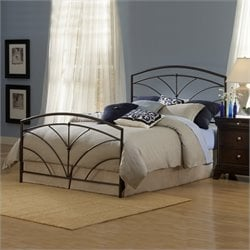 Hillsdale Thompson Metal Panel Bed in Bronze - Full