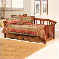 Hillsdale Dorchester Solid Pine Daybed in Brown Cherry with Pop-Up Trundle