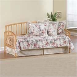 Hillsdale Carolina Country Pine Wood Daybed in Pine Finish with Roll Out Trundle