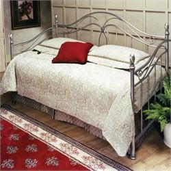 Hillsdale Milano Metal Daybed in Antique Pewter  Finish  with Pop-Up Trundle