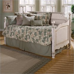 Hillsdale Wilshire Wood Daybed in Antique White  Finish with Pop-Up Trundle