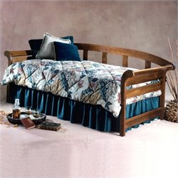 Hillsdale Jason Wood Daybed in Dark Pine Finish with Pop-Up Trundle
