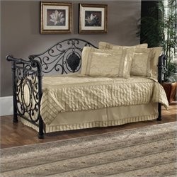 Hillsdale Mercer Metal Daybed in Antique Brown Finish with Pop-Up Trundle