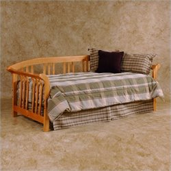 Hillsdale Dorchester Solid Pine Daybed in Pine Finish with Pop-Up Trundle
