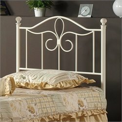 Hillsdale Westfield Metal Poster Headboard in Off White Finish - Twin