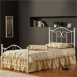 Hillsdale Westfield Metal Poster Bed in Off White - Twin