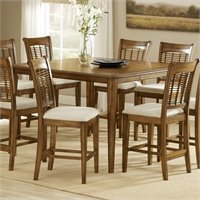 Hillsdale Bayberry Counter Height Gathering Dining Table In Oak Finish