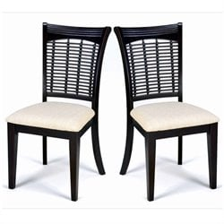 Hillsdale Bayberry Fabric Dining Chair in Dark Cherry (Set of 2)