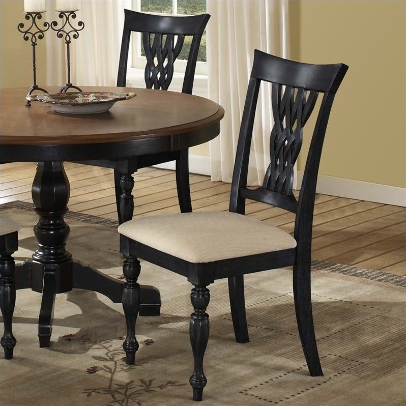 Hillsdale Embassy Dining Chair in Rubbed Black (set of 2)