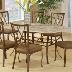 Hillsdale Brookside Stone Top Rectangular Casual Dining Table