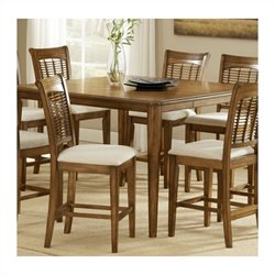 Hillsdale Bayberry 5 Piece Counter Height Oak Dining Set