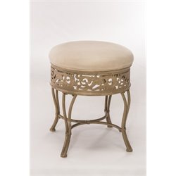 Hillsdale Villa III Vanity Stool in Antique Beige