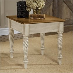 Hillsdale Wilshire End Table in Antique White Finish