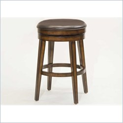 Hillsdale Beechland Backless Swivel Counter Stool in Rustic Oak Finish