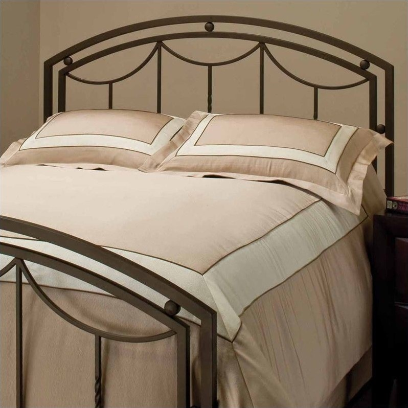 Hillsdale Arlington Premium Spindle Headboard with Rails in Bronze