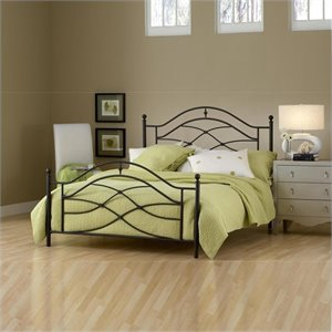 Hillsdale Cole Bed in Black Twinkle Finish