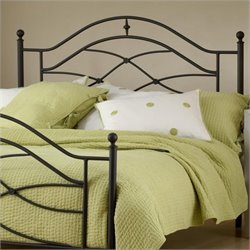 Hillsdale Cole Premium Spindle Headboard with Rails in Black - Queen