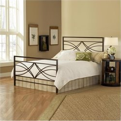 Hillsdale Dutton Bed in Brown Crystal Finish