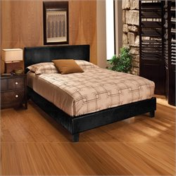 Hillsdale Harbortown Bed In Black Vinyl - Queen