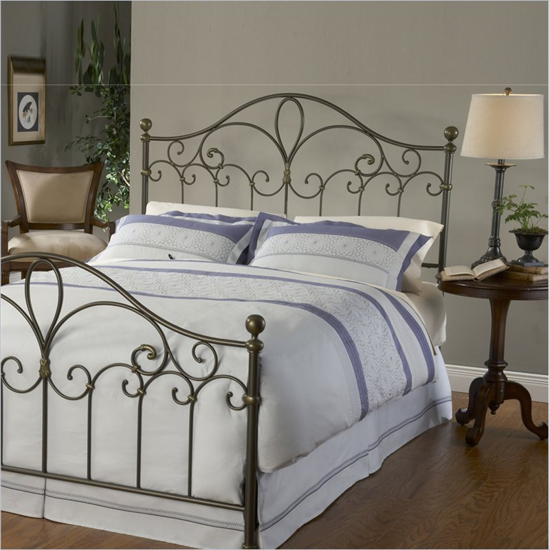 Meade Spindle Headboard in Silver Gold