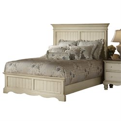 Hillsdale Wilshire Panel Bed in  Antique White  - King Size