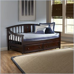 Hillsdale Alexander Daybed With Trundle Drawer in Deep Brown Finish