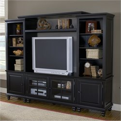 Hillsdale Grand BaySmall Entertainment Wall Unit in Black