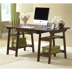 Hillsdale Parkglen Trestle Desk In Cherry