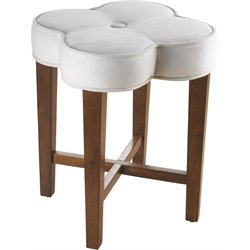 Hillsdale Clover Vanity Stool in Cherry