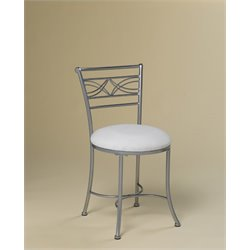 Hillsdale Dutton Vanity Stool in Chrome Powder Coat