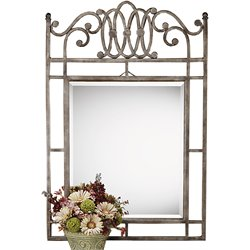 Hillsdale Montello Decorative Mirror in Old Steel