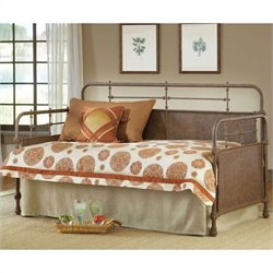 Hillsdale Kensington Metal Daybed in Old Rust Finish - Daybed only
