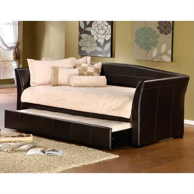 Hillsdale Montgomery Daybed in Brown Faux Leather