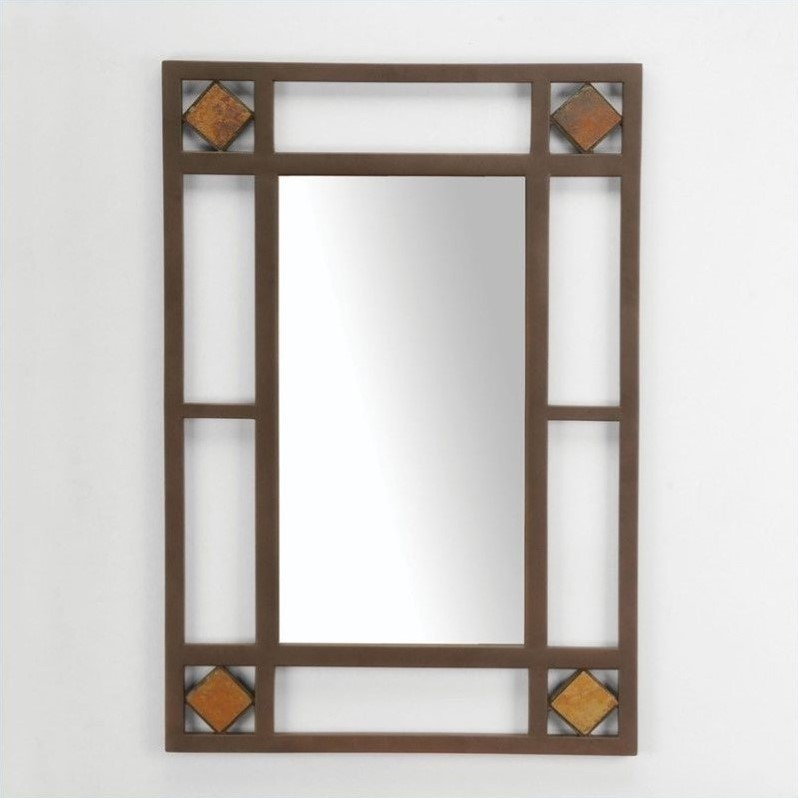 Hillsdale Lakeview Console Mirror in Brown