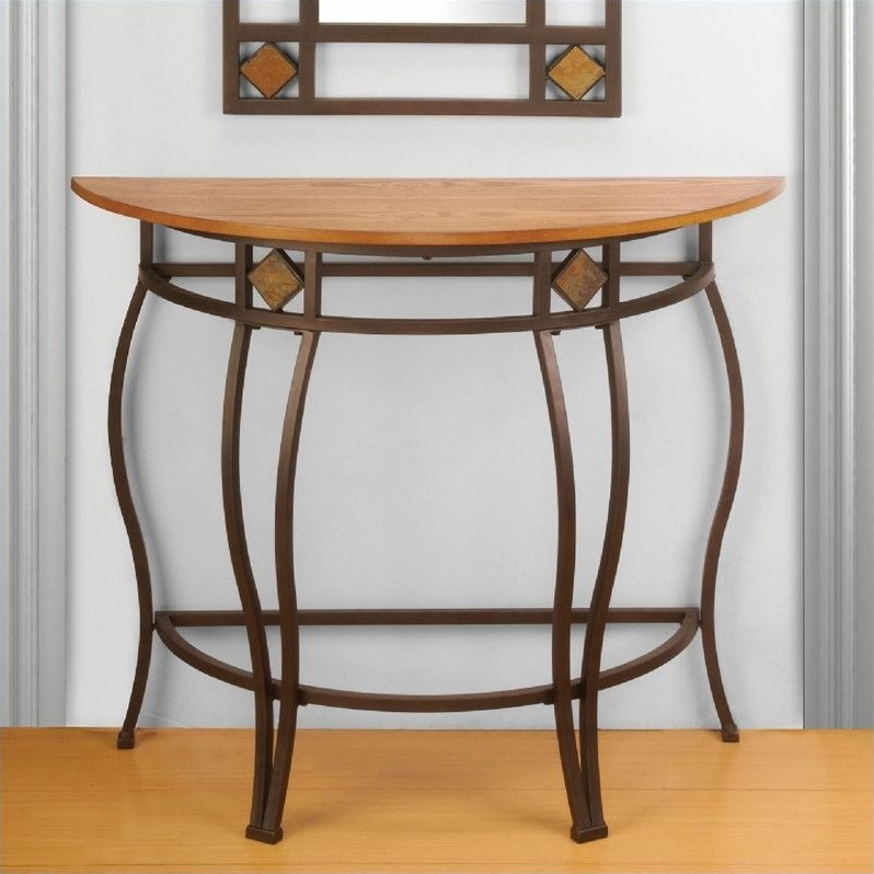 Lakeview Console Table in Brown / Medium Oak Finished  Wood
