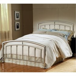 Hillsdale Claudia Bed in Matte Nickel - Full