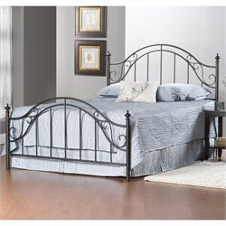 Hillsdale Clayton Bed in Matte Brown - Full