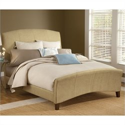 Hillsdale Edgerton Upholstered Bed in Beige Tweed