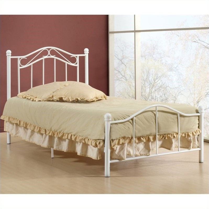 Gavin Twin Bed in White