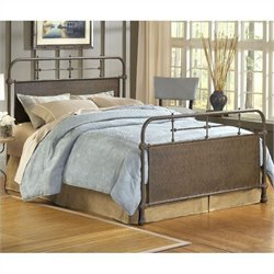 Hillsdale Kensington Metal Bed in Old Rust - Twin
