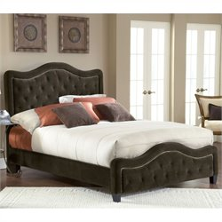 Hillsdale Trieste Fabric Bed in Chocolate - California King
