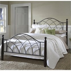 Hillsdale Vista Poster Bed in Silver and Espresso - Twin